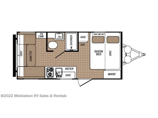 2018 Dutchmen Aspen Trail 1750RD floorplan image