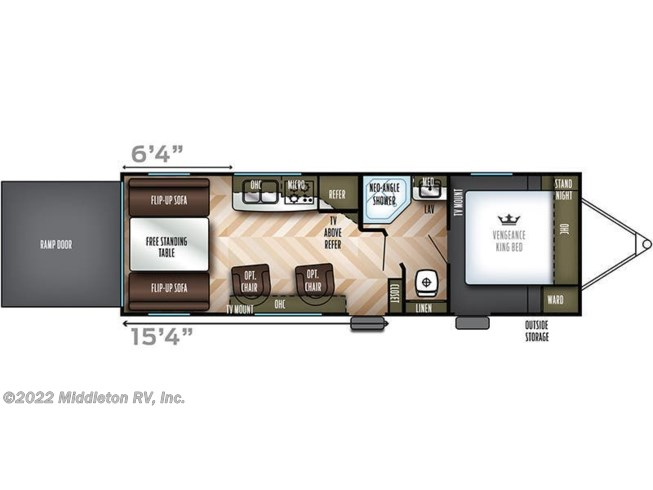 2019 Forest River Vengeance Rogue 25V floorplan image