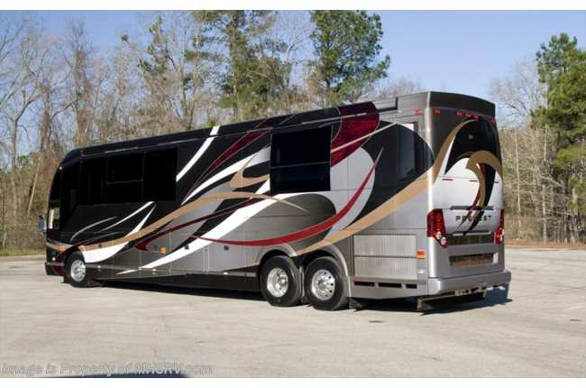 New 2016 prevost h3 45 by outlaw coach the residency iii for Million dollar motor coaches