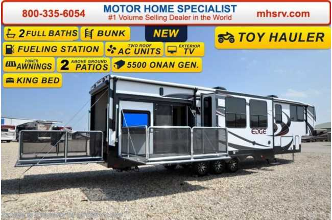New 2016 Heartland Rv Edge 397ed Toy Hauler Bath 1 2 Side Patio