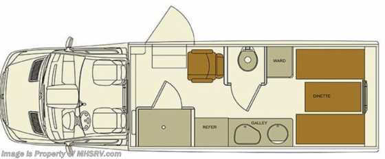 New 2016 EverGreen RV Imperial 245WS Sprinter Diesel GPS Floorplan