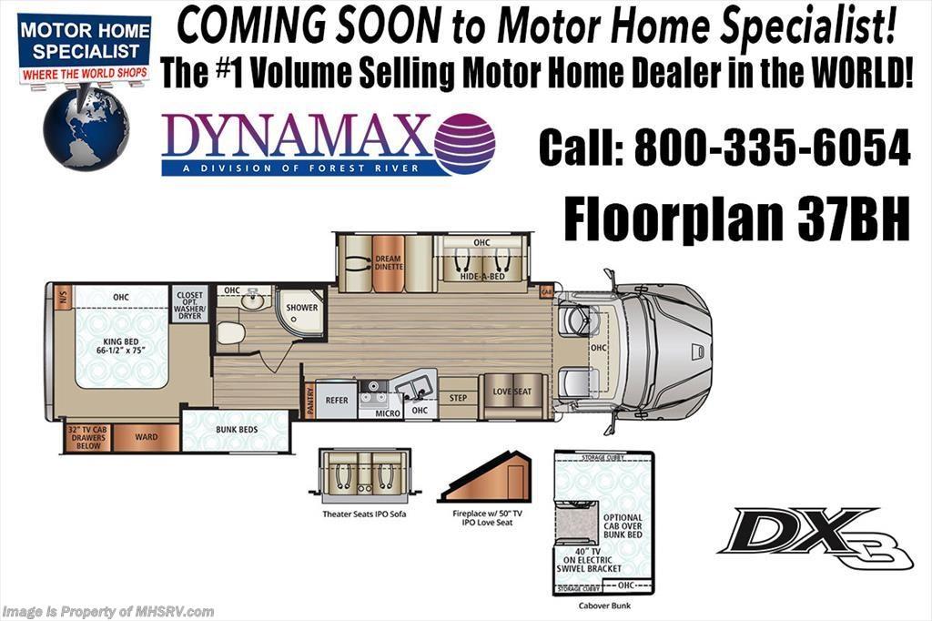 2018 Dynamax Corp RV DX3 37BH Bunk Super C W/Theater Seats