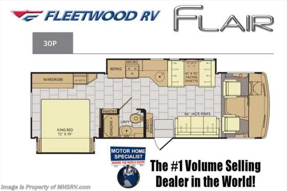 New 2017 Fleetwood Flair 30P RV for Sale at MHSRV W/King Bed, OH Loft Floorplan