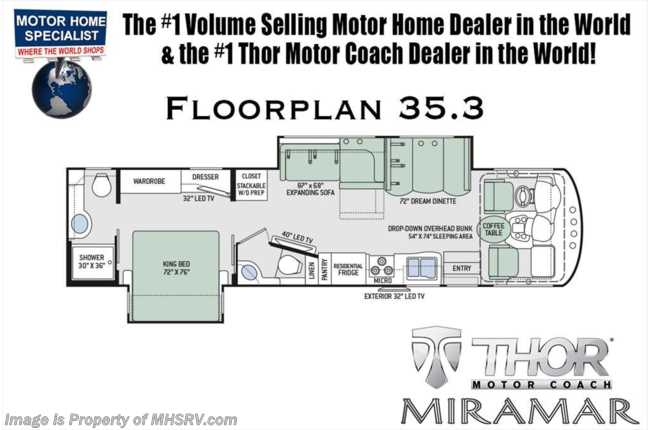 New 2018 thor motor coach miramar 353 bath 12 rv for sale w new 2018 thor motor coach miramar 353 bath 12 rv for sale wfireplace king bed cheapraybanclubmaster Images