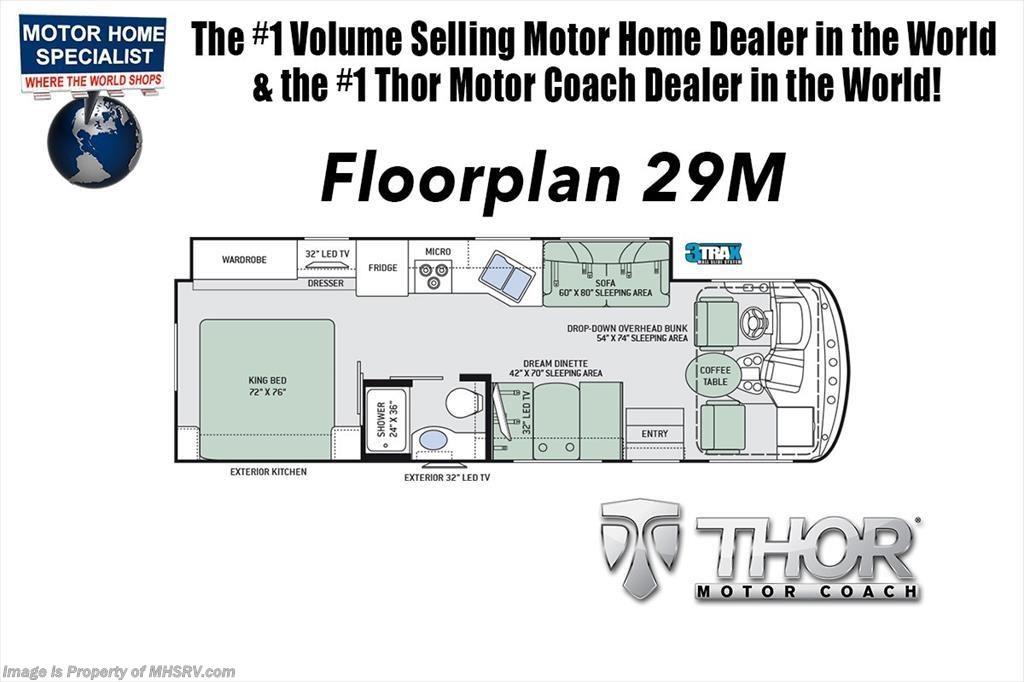 new 2018 thor motor coach hurricane 29m rv for sale at mhsrv w dual rh mhsrv com Ford Motorhome Wiring Diagram Ford Motorhome Wiring Diagram