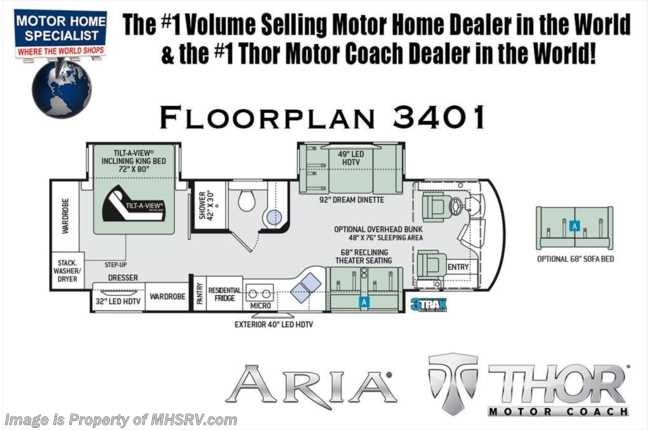 New 2019 thor motor coach aria 3401 luxury rv for sale w360hp king new 2019 thor motor coach aria 3401 luxury rv for sale w360hp king bed wd asfbconference2016 Choice Image
