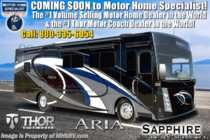 2019 Thor Motor Coach Aria 3601 Luxury RV for Sale W/360HP, King Bed & W/D