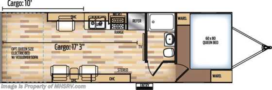 New 2019 Coachmen Adrenaline Toy Hauler 26CB Pwr Bed, Jacks, 4KW Gen, 15K A/C Floorplan