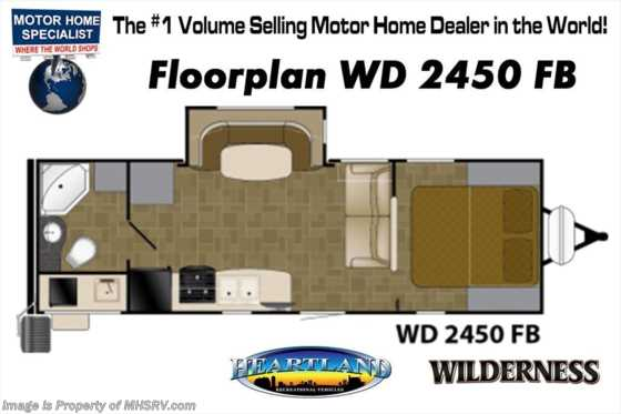 New 2018 Heartland  Wilderness 2450FB RV for Sale @ MHSRV W/ Ext Kitchen, Rims Floorplan