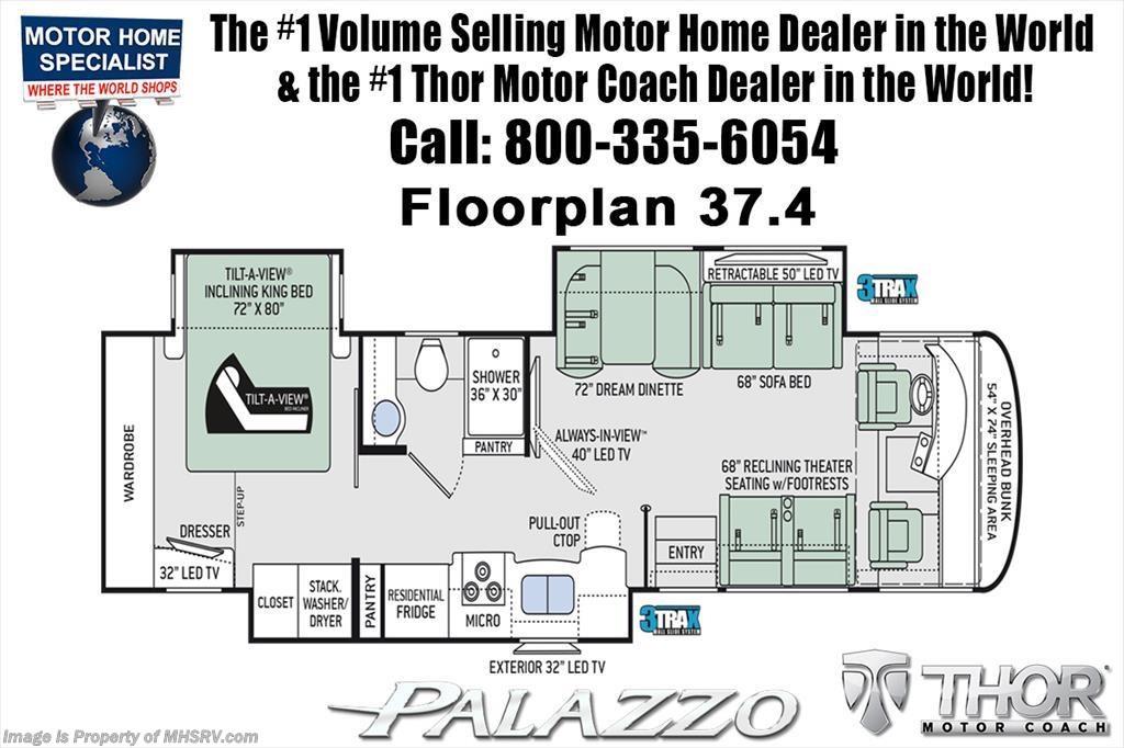 2019 Thor Motor Coach Rv Palazzo 37 4 Rv For Sale W