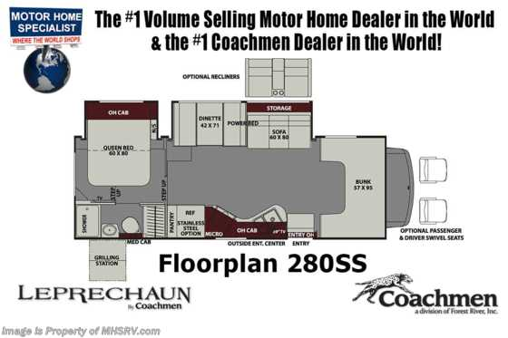 New 2019 Coachmen Leprechaun 280SS Bunk Model RV W/ Dual Recliners Lephracon Coachmen Rv Wiring Diagrams on