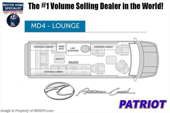 New 2019 American Coach Patriot EXT MD4 Sprinter Diesel by Midwest Automotive Des. Floorplan