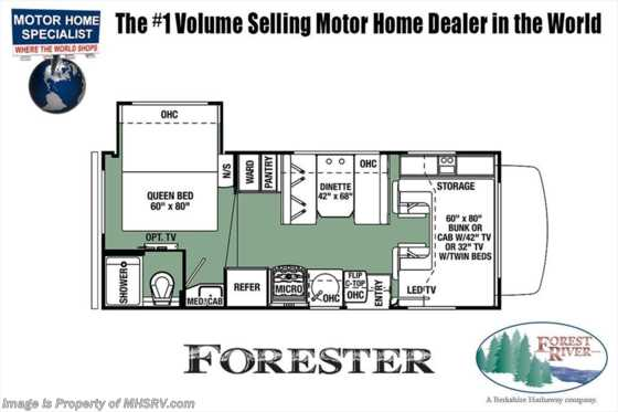 New 2019 Forest River Forester LE 2251SLEC RV for Sale W/15K BTU A/C, Arctic Floorplan