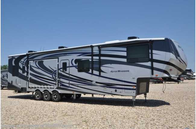 2019 Heartland RV Road Warrior 427RW Bath & 1/2 W/3 A/Cs, Ext TV, Arctic