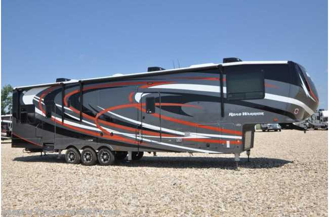 2019 Heartland RV Road Warrior 413RW W/ 3 A/Cs, Ext TV, Res Fridge, Arctic
