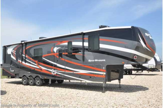 2019 Heartland RV Road Warrior 429RW Bath & 1/2 W/ Ext TV, 3 A/Cs, Res Fridge