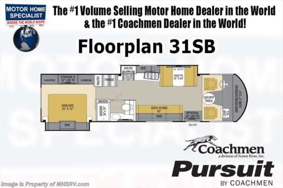 New 2019 Coachmen Pursuit 31SB RV for Sale W/2 15K A/Cs, King, Ext TV Floorplan