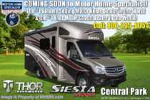 2019 Thor Motor Coach Four Winds Siesta Sprinter 24ST RV W/Summit Pkg, Stabilizers & Dsl. Gen