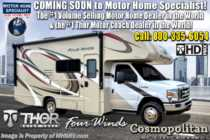 2019 Thor Motor Coach Four Winds 22E RV for Sale W/Stabilizers, Ext TV, 15K A/C