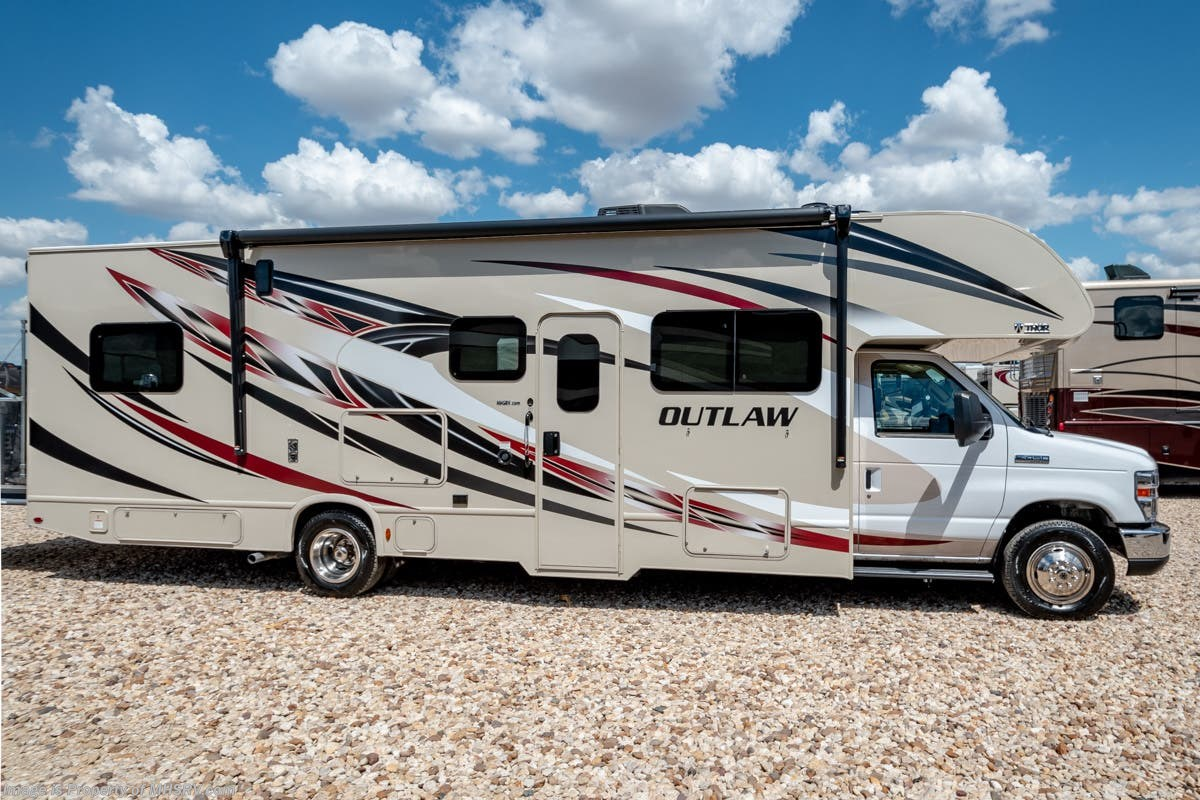 New 2019 Thor Motor Coach Outlaw 29j Toy Hauler Rv For Sale W Drop 1993 Dutchmen Travel Trailer Plumbing Diagram Down Bed Loft