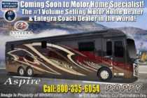 2019 Entegra Coach Aspire 44W Bath & 1/2 W/Solar, Aqua Hot, Theater Seating