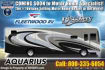 2019 Fleetwood Discovery 38K Bath & 1/2 W/ Theater Seats, Aqua Hot, 3 A/Cs