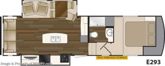 New 2019 Heartland  ElkRidge Xtreme Light E293 RV for Sale W/ 2 A/Cs & Pwr Leveling Floorplan