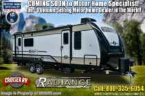 2019 Cruiser RV Radiance Ultra-Lite 32BH Bath & 1/2 RV W/ Bunks, Pwr Jacks