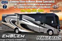 2019 Entegra Coach Emblem 36T Bath & 1/2, Bunk House W/Theater Seats, W/D