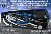 2019 Thor Motor Coach Outlaw 37RB Toy Hauler RV for Sale W/Garage Sofa & Patio