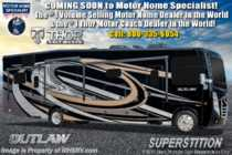 2019 Thor Motor Coach Outlaw 37RB Toy Hauler RV W/ Garage Sofa, Patio Deck