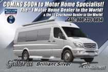2019 Coachmen Galleria 24Q Sprinter Diesel RV W/Li3 Lithium & Solar