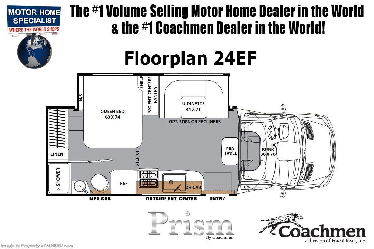 2019 Coachmen Rv Prism Elite 24ef Sprinter Diesel W Dsl Gen 15k For Coachman Motorhomes Wiring Diagrams Manufacturer Changes And Or Options May Alter Floor Plan Of Unit Sale