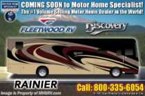 2019 Fleetwood Discovery 38K Bath & 1/2 W/ Aqua Hot, Tech Pkg & 3 A/C