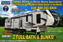 2019 Heartland  ElkRidge 38RSRT 2 Full Baths W/ Bunks, Jacks, 2 A/C
