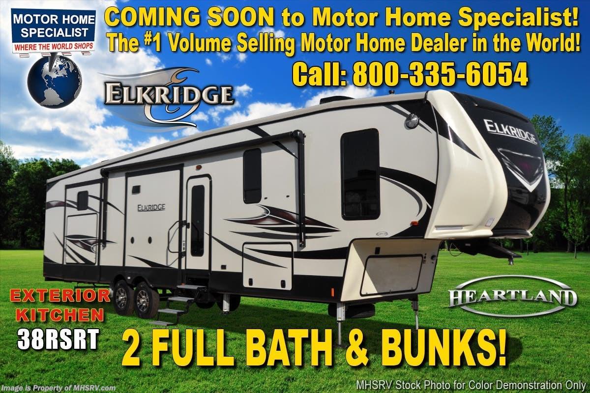 2019 Heartland RV RV ElkRidge 38RSRT 2 Full Baths W/ Bunks, 2 A/C, Jacks  for Sale in Alvarado, TX 76009 | AHL081917025