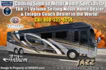 2019 Entegra Coach Anthem 44W Bath & 1/2 Luxury RV W/Wifi Extender, Solar