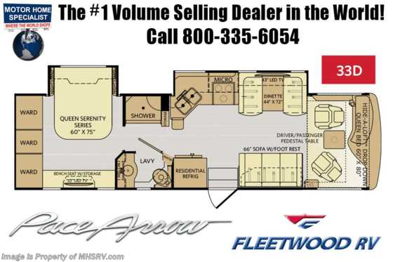 New 2019 Fleetwood Pace Arrow 33D Diesel Pusher RV for Sale at MHSRV Floorplan