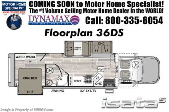 New 2019 Dynamax Corp Isata 5 Series 36DS Super C RV for Sale W/ Theater Seats & Solar Floorplan