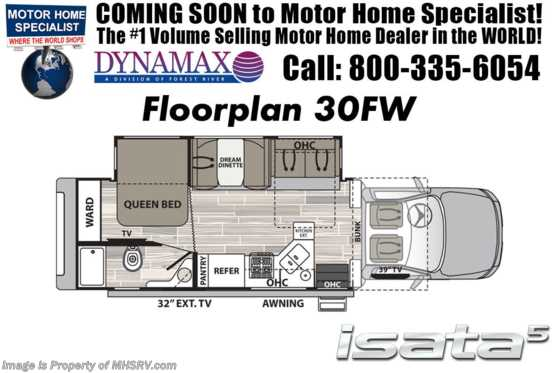 New 2019 Dynamax Corp Isata 5 Series 30FW Super C W/Theater Seats, Sat, 8KW Gen Floorplan