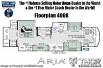 2019 Thor Motor Coach Aria 4000 2 Full Bath 360HP Diesel RV W/King