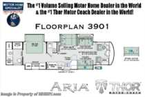 2019 Thor Motor Coach Aria 3901 Luxury Bath & 1/2 Diesel RV W/King, 360HP