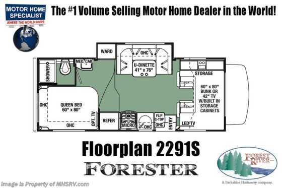 New 2019 Forest River Forester 2291SF RV for Sale W/15K A/C, FBP, Jacks Floorplan