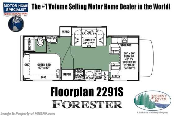 New 2019 Forest River Forester 2291SF RV for Sale W/15K A/C, Jacks, FBP Floorplan
