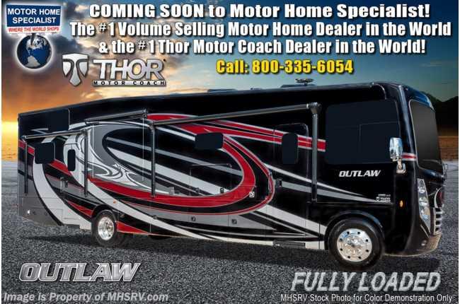 New 2019 Thor Motor Coach Outlaw 38mb Toy Hauler Rv W 3 Season Wall