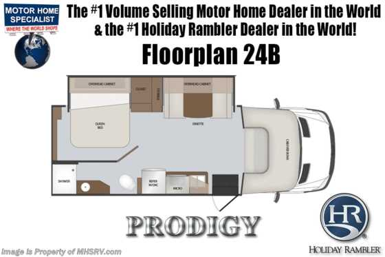 New 2019 Holiday Rambler Prodigy 24B Diesel Sprinter RV for Sale at MHSRV W/Dsl Gen Floorplan