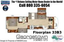 2019 Forest River Georgetown 3 Series GT3 33B3 Bunk Model RV W/ Theater Seats, OH Loft, King