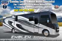 2019 Entegra Coach Emblem 36H Class A Gas Luxury RV W/ Theater Seats, King