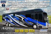 2020 Entegra Coach Aspire 44R Bath & 1/2 Bunk Model RV W/WiFi, Solar