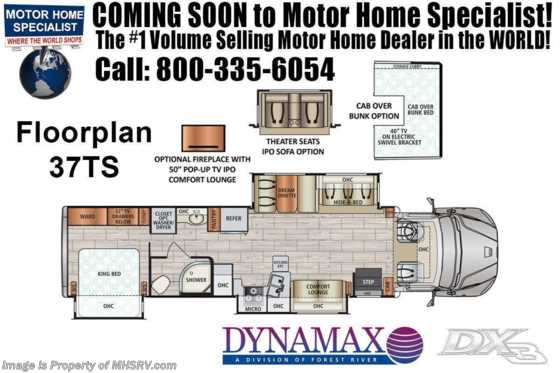 2020 Dynamax Corp DX3 37TS W/Black Out Pkg, Theater Seats, Cab Over Bed Floorplan